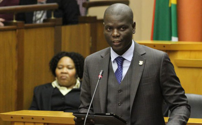 FILE: Justice Minister Ronald Lamola in Parliament on 16 July 2019. Picture: @DOJCD_ZA/Twitter