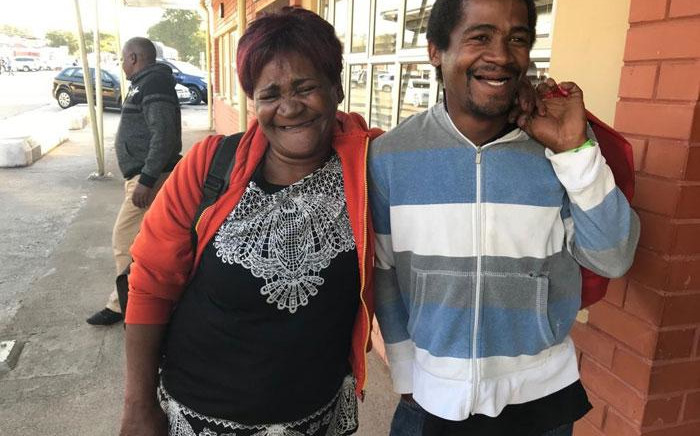 Jane Daniels is reunited with her son Denzil, who went missing from their Delft home in Cape Town in 2013 and was found in eSwatini in June 2019. Picture: Lauren Isaacs/EWN