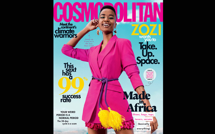 FILE: The May 2020 issue of 'Cosmopolitan' magazine. Picture: @CosmopolitanSA/Twitter.