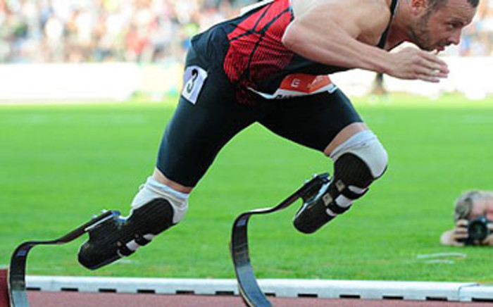 Oscar Pistorius competes in the 400 metres on 31 May 2011 at the Zlata Tretra athletics meeting in the Czech Republic. Picture: AFP