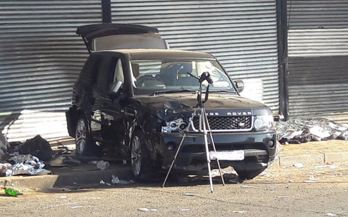 The scene of the crash in Randburg. Picture: Koketso Motau/EWN