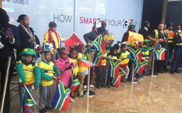 Team SA returned from the London Olympics to a heroes welcome at the OR Tambo International Airport on 14 August 2012. Picture: Lelo Mzaca/EWN