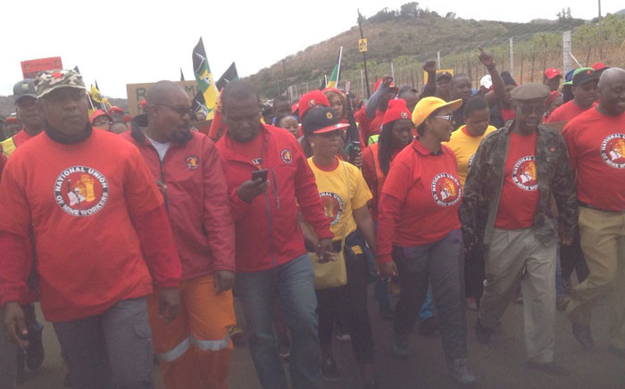 Cosatu supports the NUM march at Lily Mine to prioritise human lives at the point of production on 12 June, 2016. Picture: Twitter @_cosatu.