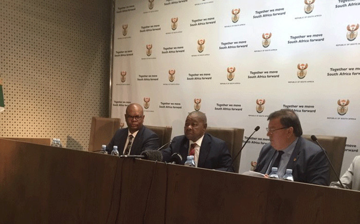 Transport Minister Blade Nzimande briefing the media on the preliminary Easter road safety report on 2 May 2019. Picture: GCIS.