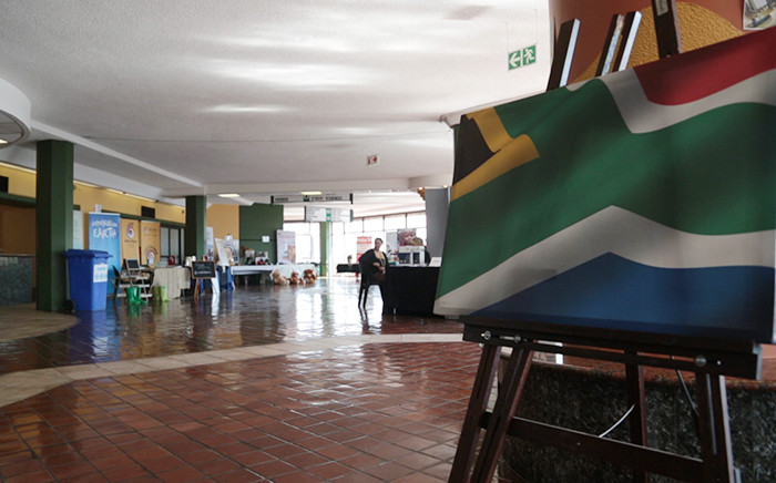 A South African flag painting at the Lead SA Changemakers conference in Johannesburg on 15 August 2015. Picture: Reinart Toerien/EWN.