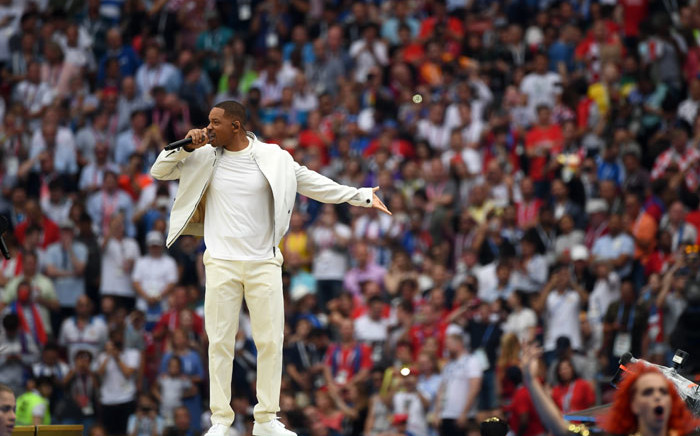 Will Smith performs at the closing ceremony of the 2018 Fifa World Cup at the Luzhniki Stadium in Moscow on 15 July 2018. Picture: AFP