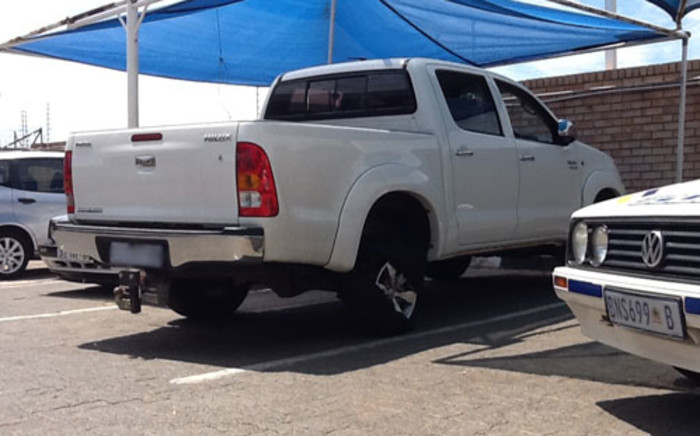One of the alleged getaway cars, involved in the Carnival City Casino robbery. Picture: Andrea van Wyk/EWN.