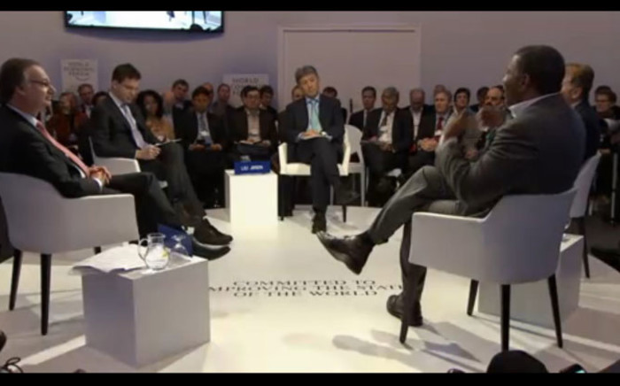 The new digital context panel at the World Economic Forum. Picture: Screengrab Weforum.org