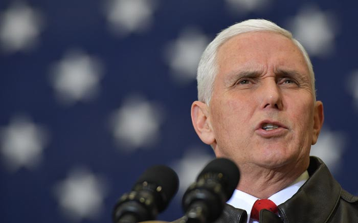 FILE: US Vice President Mike Pence. Picture: AFP
