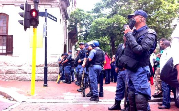 FILE: Police are keeping a close eye on the city centre despite an illegal protest being called off. Picture: Graeme Raubenheimer/EWN.