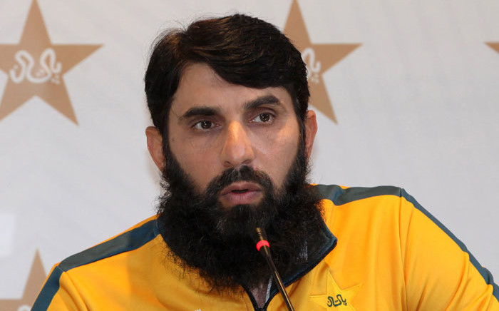 FILE: Pakistan's cricket coach Misbah-ul-Haq speaks during a press conference in Lahore on 11 January 2021. Picture: AFP