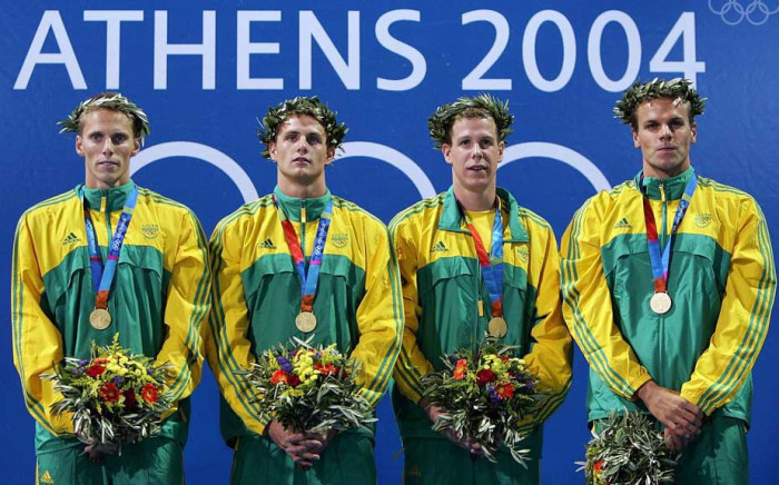 Roland Schoeman, Lyndon Ferns, Darian Townsend and Ryk Neethling.  Picture: Olympics.org