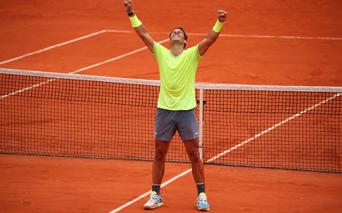 FILE: Rafael Nadal celebrates another Frecnh Open title. Picture: @rolandgarros/Twitter