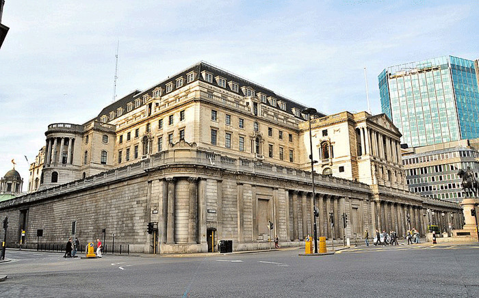 FILE: The Bank of England in London. Picture: commons.wikimedia.org