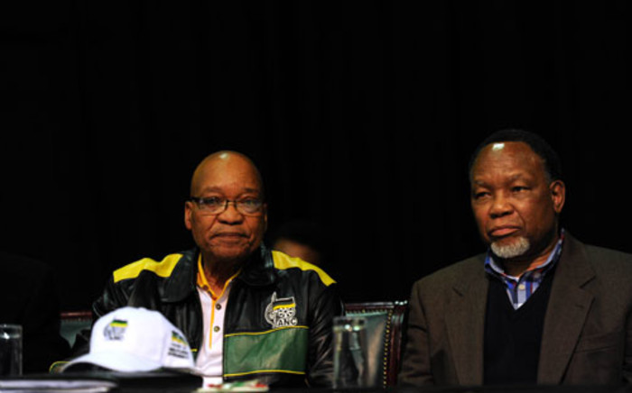 President Jacob Zuma and his Deputy President Kgalema Motlanthe attend the ANC's 2012 policy conference in Midrand. Picture: Sapa