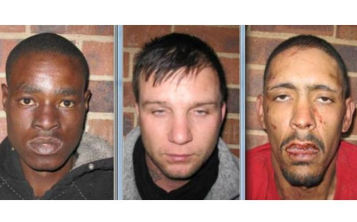 The three suspects who escaped from the Primrose police station. Picture: SAPS.