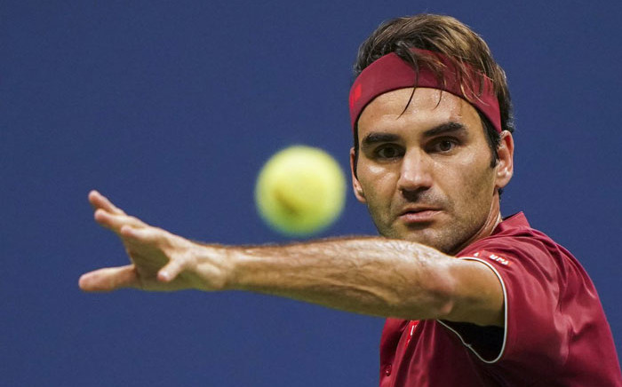 Roger Federer in action at the US Open. Picture: @usopen/Twitter
