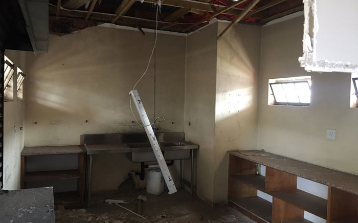 Teachers at the Mzwamandla Khanyile Primary School in KwaDabeka near Pinetown arrived to another break-in at the school on 20 October 2020. The school has been targeted 16 times since 2018. Picture: Nkosikhona Duma/EWN