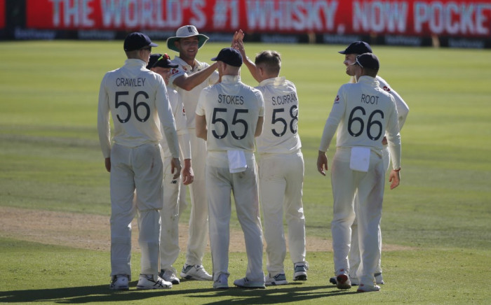 Sam Curran's (above) late spell of bowling got the crucial wickets of Quinton de Kock and RVD in the 72nd and 76th overs respectively.  Credit: AFP