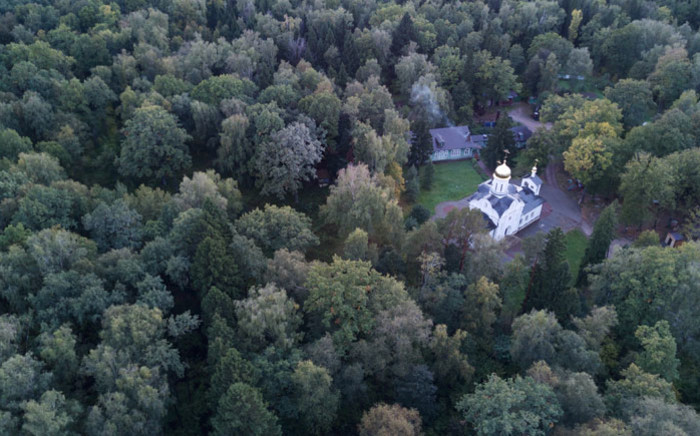 A photo taken on 28 September 2018 shows the forested area near Moscow known as Kommunarka where historians belive Stalin's NKVD secret police killed and burried more than 6000 people in 1937-41. Picture: AFP