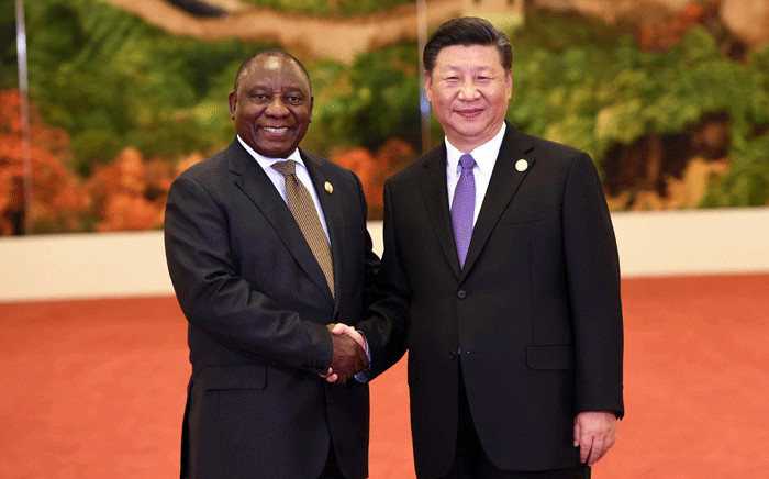 President Cyril Ramaphosa with Chinese President Xi Jinping at the Forum on China-Africa Cooperation Summit in Beijing. Picture: Dirco.