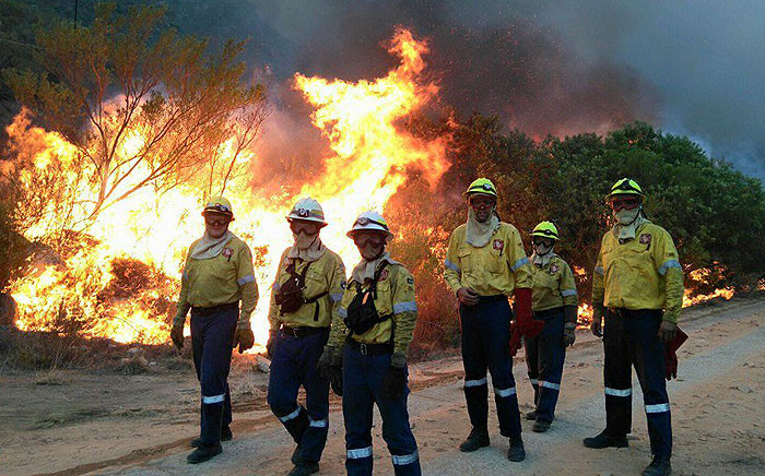 FILE: Firefighters battle a blaze. Picture: @vwsfires via Twitter.