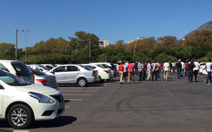 Over 200 Uber drivers vow to press on with their strike until management addresses their grievances over fare decreases which are expected to take effect on 07 April 2016.Pictures: Natalie Malgas/EWN