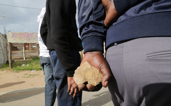 FILE: Disgruntled Kwanonqaba residents protest for improved service delivery. Picture: Thomas Holder/EWN.