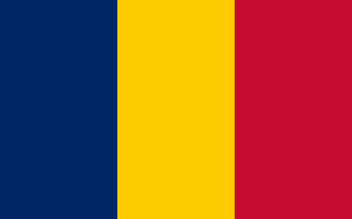 Flag of Chad. Picture: Public Domain.