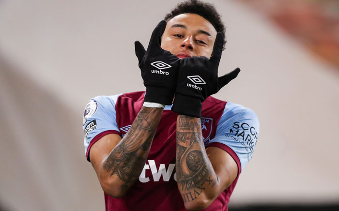 West Ham's Jesse Lingard celebrates a goal against Wolverhampton Wanderers in their English Premier League match on 5 April 2021. Picture: @WestHam/Twitter