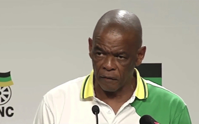 ANC secretary general Ace Magashule at the party's media briefing on 22 January 2019. Picture: Youtube screengrab.