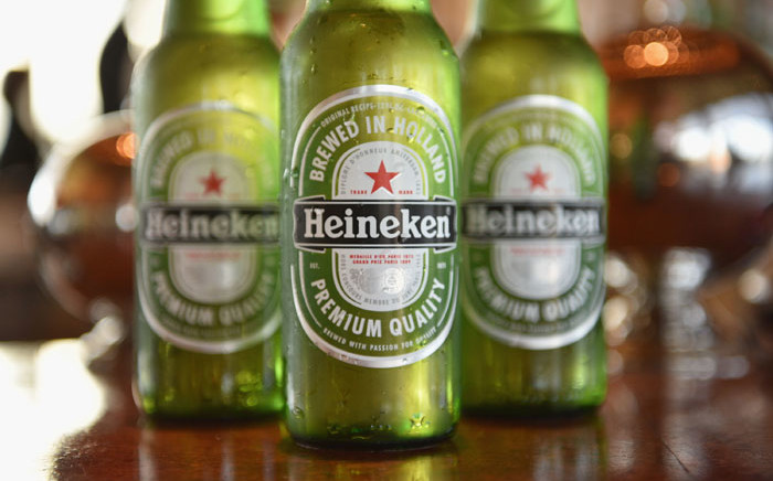 FILE: Heineken beer on display during the Vulture Festival Opening Night Party sponsored by DirecTV at The Top of The Standard on 20 May 2016 in New York City. Picture: AFP