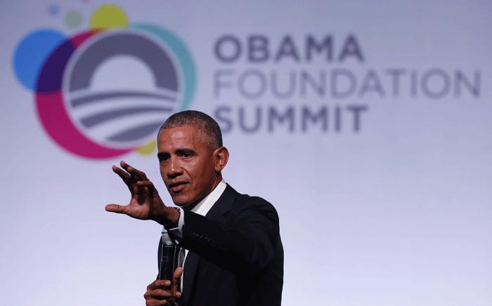 Former US President Barack Obama speaks at the Obama Foundation Summit in Chicago, Illinois, 31 October, 2017. Picture: AFP