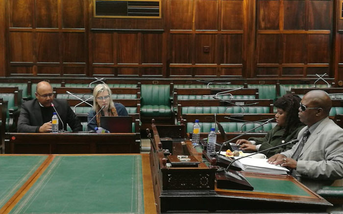 AgriSA is addressing MPs during public hearings on land reform at Parliament. Picture: @ParliamentofRSA/Twitter