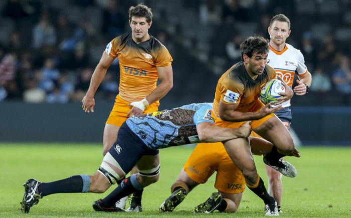 The Jaguares in action against the Waratahs during their Super Rugby match on 25 May 2019. Picture: @JaguaresARG/Twitter