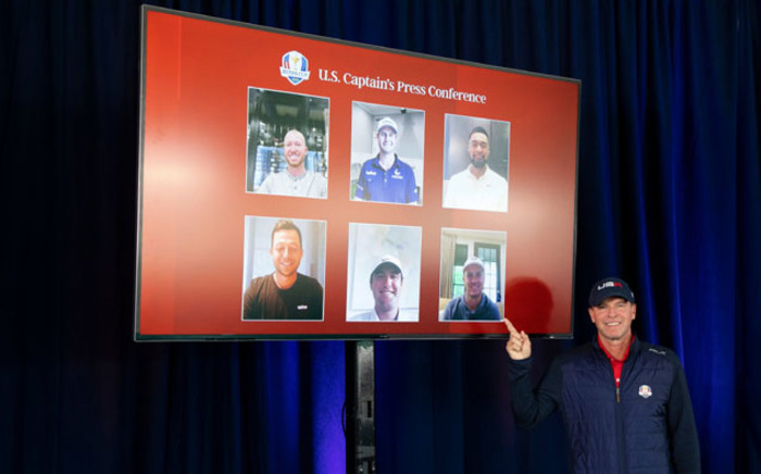 US Ryder Cup captain Steve Stricker announces his line-up on 8 September 2021 for the 24-26 September tournament. Picture: @RyderCupUSA/Twitter