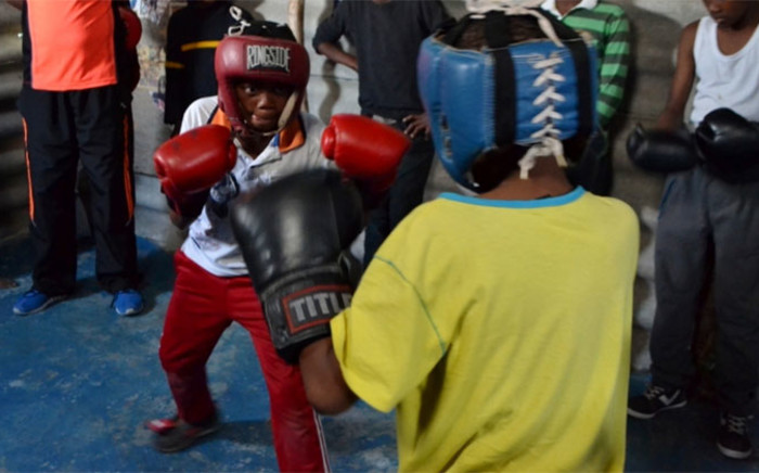 """Thembani """"Terror"""" Gqeku started an African Youth Boxing Club in Khayelitsha with the hopes of keeping kids off the streets. Picture: Leah Rolando/Lead SA."""