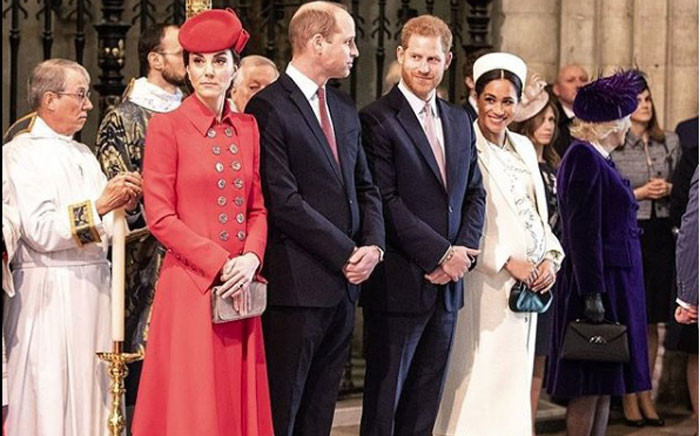 The Duke and Duchess of Cambridge and the Duke and Duchess of Sussex. Picture: @kensingtonfamily/instagram