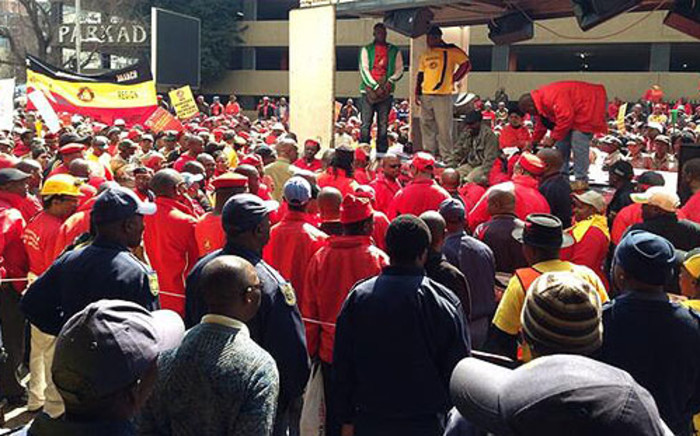The National Union of Mineworkers (NUM) embarks on a strike in Johannesburg on 24 August 2013. Picture: Lesego Ngobeni/EWN