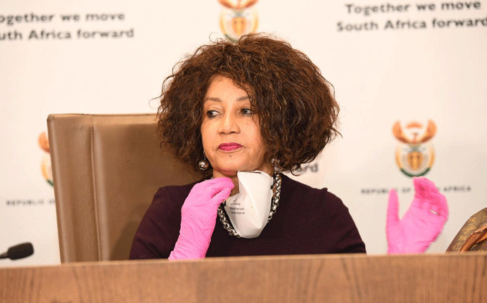 FILE: Minister of Human Settlements, Water & Sanitation Lindiwe Sisulu. Picture: @The_DHS/Twitter.