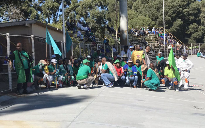 FILE: The miners fear being infected because social distancing is near impossible inside deep mine shafts. Picture: @_AMCU/Twitter.