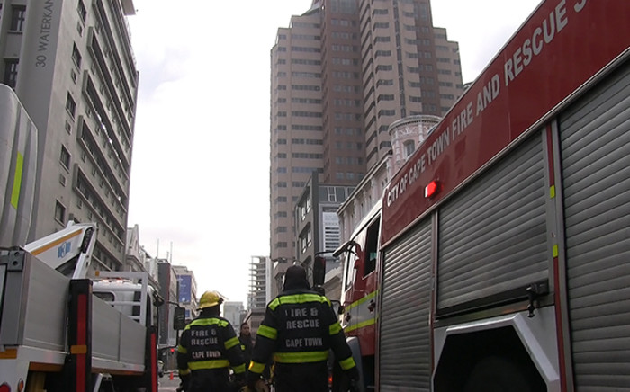 Firefighters in Cape Town's CBD. Picture: Supplied.