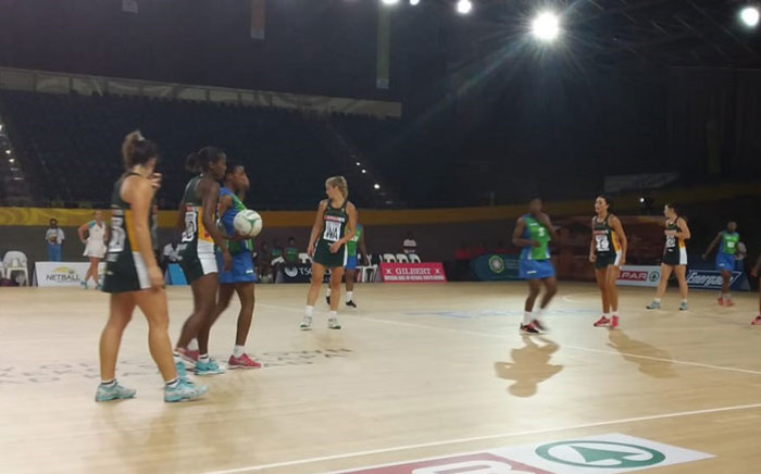 South Africa take on Lesotho in their 2019 Africa Netball Cup match at the Bellville Velodrome in Cape Town on 18 October 2019. Picture: Ayanda Felem/EWN