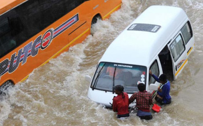 New Canada Road at Pennyville in Soweto was flooded following heavy rains throughout Gauteng. Picture: Michel Bega/The Citizen.