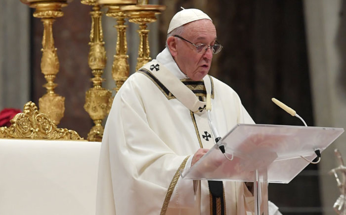 FILE: Pope Francis at St Peter's Basilica in the Vatican. Picture: AFP