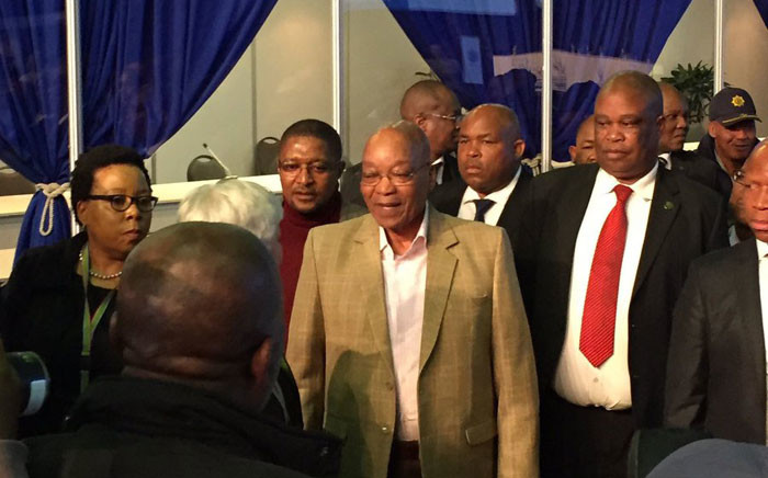 President Jacob Zuma visited the Independent Electoral Commission (IEC) results operations centre in Tshwane. Picture: @MYANC via Twitter.