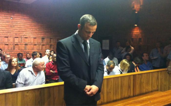 Oscar Pistorius in the Pretoria Magistrates Court.