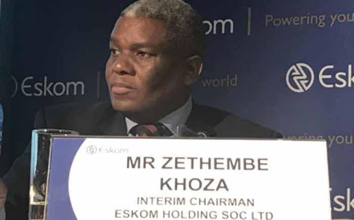 Zethembe Khoza interim board chairman of the Eskom board briefs media on 2016 results on 19 July 2017. Picture: Kgothatso Mogale/EWN