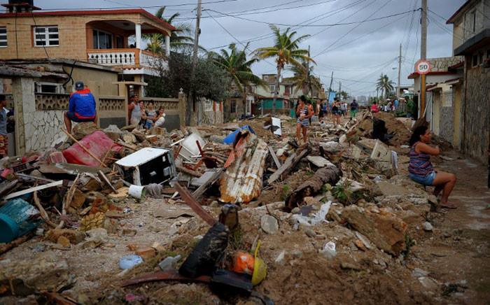 View of damages after the passage of Hurricane Irma, in Cojimar neighborhood in Havana, on September 10, 2017. Picture: AFP.
