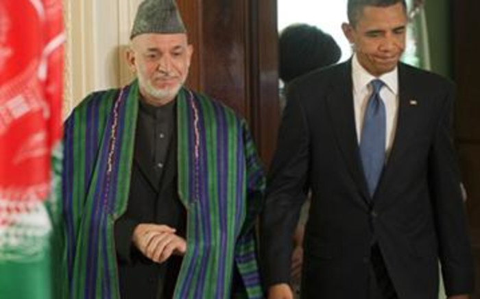 Afghan President Hamid Karzai and US President Barack Obama. Picture: AFP